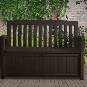 brown patio garden bench