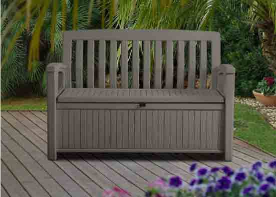 patio bench taupe